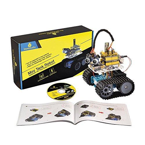 KEYESTUDIO Mini Tank Roboter Starter Project Smart Auto Kit Mit R3 inkl Tutorial Buch Stiel Bildung for Arduino UNO