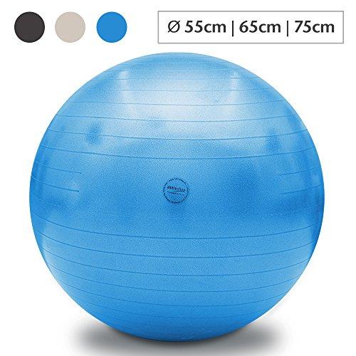 aktivshop Fitnessball Gymnastikball Sitzball Fitness Ball Yogaball Sportball Anti-Burst Büroball Gym (75 cm, Blau)