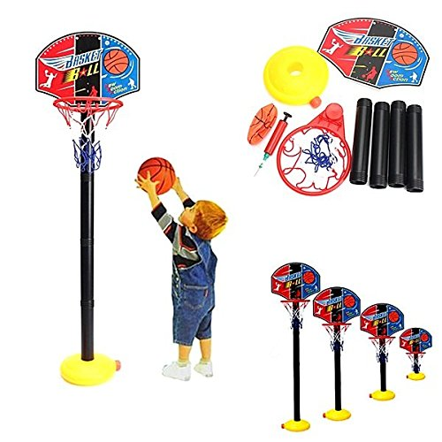 Bazaar Tragbare Kinder Kinder Einstellbare Basketball Indoor Outdoor Spielnetz Hoop Set 115cm (Basketball Hoops Einstellbar)