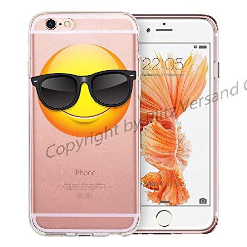 Blitz® EMOJI motifs housse de protection transparent TPE caricature bande iPhone Tomber amoureux M9 iPhone 8sPLUS Emoji Cool M1