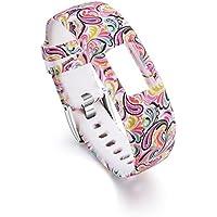 Banda de Muñeca de Silicona Clásica para Garmin Vivofit 4 Banda de Reloj de Pulsera de Sustitución de Patrón de Moda con Broche de Metal 205 MM / 230 MM (I, S)