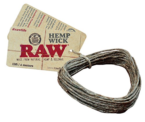 Raw Hemp Wick 4 metros – La Alternativa A Gas Butano – 18 pantalla)