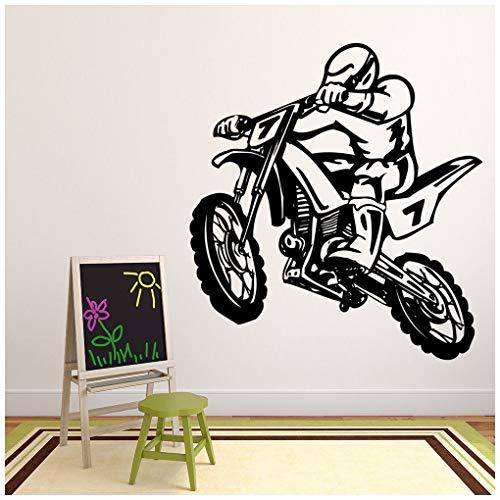 azutura Dirt Bike Stunt Wandtattoo Moto-Cross Wand Sticker Jungen Schlafzimmer Haus Dekor verfügbar in 5 Größen und 25 Farben Groß Gold Metallic (Dirt Bike Gold)