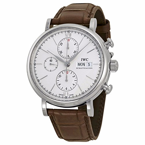 IWC MEN'S 42MM CROCODILE LEATHER BAND STEEL CASE AUTOMATIC WATCH IW391007