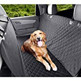 MVPOWER Dog Car Seat Cover, Waterproof & Scratch Proof & Nonslip Back Seat Cover, Easy Install, Machine Washable, Durable, Universal fits All Cars, 147x137cm Black