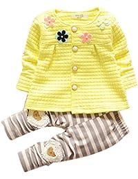 Chandal Para Niña K-youth® Chandal Bebé Unisex Lindo Flores Sudadera Tops y Pantalones para Niñas Niños