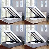 Home Veronica King Size Ottoman Bed, 5ft Bed Frame Storage Lift Upholstered Fabric