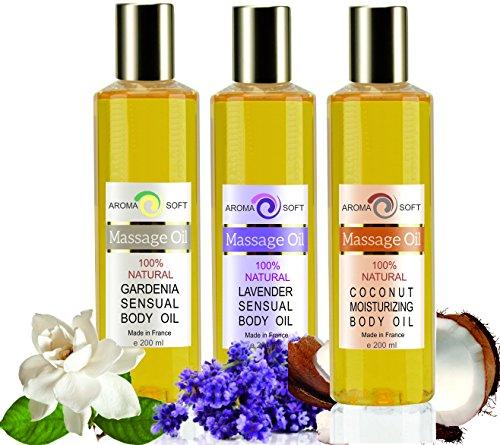 Lavendel Und Gardenia (Aromaöl -Massageöle Feuchtigkeits Trio Nährende Lavendel Gardenia Kokosnuss 3 X 200 ML)
