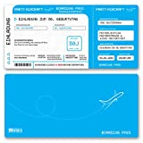 (10 x) Einladungskarten Geburtstag Flugticket Ticket Karte Einladungen in Hellblau