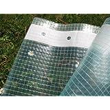 Gitterfolie mit Nagelrand, Gewächshausfolie 3,0m breit x 6,0m (2,20€/m²)