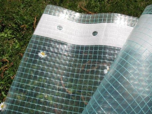 Gitterfolie mit Nagelrand, Gewächshausfolie 2,0m breit x 5,0m (2,20€/m²)