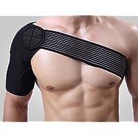 ZJchao Elastische Schulterbandage Schultergurt, Schwarz