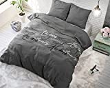 Bettwäsche Sleeptime Royal Luxury Baumwolle, 160cm x 200cm, Mit 2 Kissenbezüge 80cm x 80cm, Grau