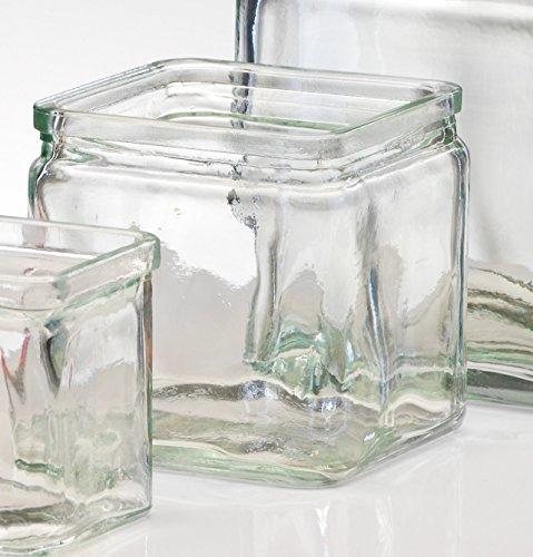 Glasvase Rustic klar eckig 10 cm Ø 10,0 x 10,0 cm von Sandra Rich
