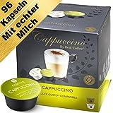Cappuccino - 96 Dolce Gusto kompatible Kapseln (6er-Pack mit Kaffeekapseln und Milchkapseln)