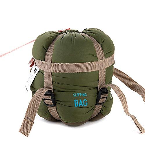 YAAGLE Super leicht Briefumschlag Schlafsack Klimaanlage-Deckbett Schlafsack wie Baumwolle Trekking Schlafsack kleine Größe-armee-grün Jungen Mumienschlafsack
