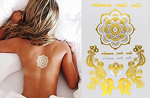 tattoo-tatouage-temporaire-metallique-golden-metallic-gold-stickers-de-tatouage-temporaire-pour-lart