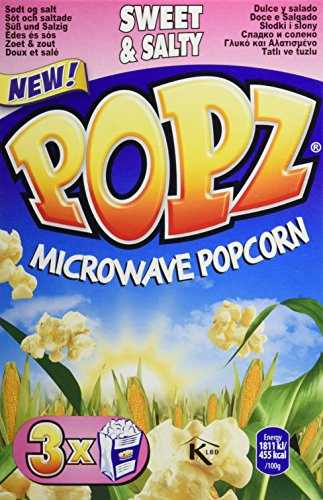 Popz Mikrowellen Popcorn Sweet und Salt, 6er Pack (6 x 255 g)
