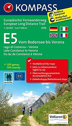E5 Lake Constance  to Verona 2558 GPS wp kompass par Kompass-Karten