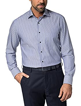 Eterna Long Sleeve Shirt Comfort Fit Twill Striped