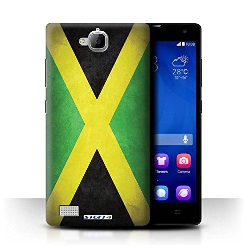 Stuff4® Hülle/Case für Huawei Honor 3C / Jamaika/Jamaikanische Muster/Flagge Kollektion