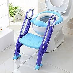 Adaptador wc para niños con escalera vista instalado