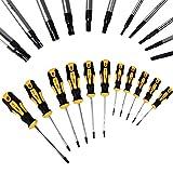 Schraubendreher Torx Satz Innen T-Profil ✔11 tlg. ✔Chrom-Vanadium-Stahl Set - Schrauben KFZ Werkzeug Schraubendrehersatz Schraubenzieher Torx Set gelb