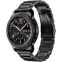 MLIYA Gear S3 Armband, 22mm Stainless Steel Metal Replacement Smart Watch Armband Bracelet for Gear S3 Classic Strap and S3 Frontier Smartwatch