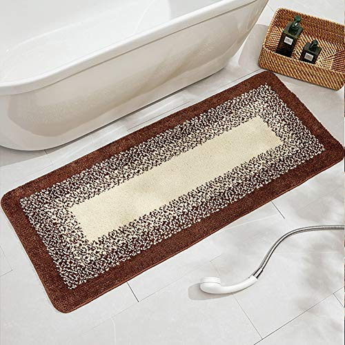 TIANQI rutschfeste Läufer Matte Wasseraufnahme Teppich werfen Einfachheit Teppiche für Badezimmer Eingang Schlafzimmer (8mm Dicke) (Color : Coffee, Size : 50X80cm) -