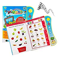 Powcan Kids Voice Learning Book Fun Educational Toy for Toddlers Early Child Development Toy Interactive Learn Activity Sound Book English Letters & Words Learning Book for Children 3 Years+