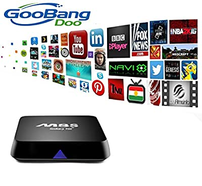 GooBang Doo M8S TV Box Fully loaded Add-ons Newest KODI with GooBang Doo Cleaning Cloth and Customer Support Card