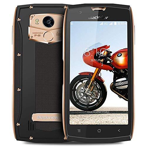 Blackview BV7000 Pro - IP68 Teléfono Móvil (5.0 Pulgadas Pantalla, 4GB RAM 64GB ROM, Cámara 13MP, Mobiles Antigolpes, Dual SIM, Android 7.0, Octa Core, Oro