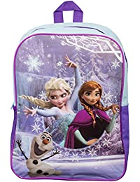 Official Disney Frozen Large Girls Backpack With Mesh Pocket (Elsa & Anna) **NEW**