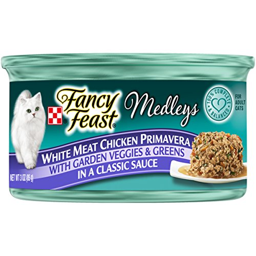 Purina Fancy Feast Wet Cat Food, Elegant Medleys, White Meat Chicken Primavera with Garden Veggie and Greens in a Classic Sauce, 3-Ounce Can by Purina Fancy Feast