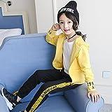 ZYTAN Kinder Kleidung, Frühjahr und Herbst Kleidung, 4, 13 bis 14-Jährigen, Anzüge, Mäntel und Hosen, Gelb, 160 Cm