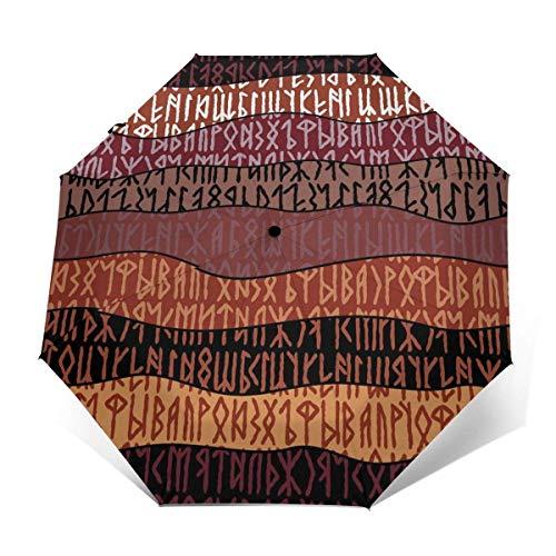 Scrittura di antichi ombrelli da viaggio gotici ombrelli pieghevoli ombrello ripiegabile sole per donna e uomo