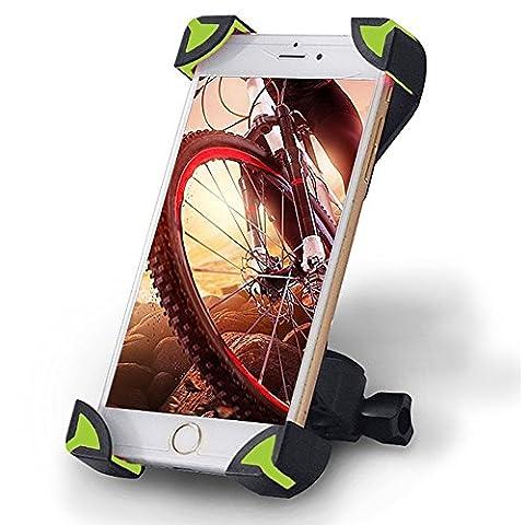Alaix support de vélo, Unieversal téléphone portable pour vélo et moto Guidon Cradle Pince de maintien avec 360Rotation pour iPhone Smartphone Android GPS d'autres appareils
