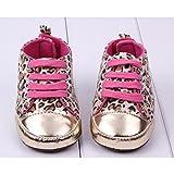 Bluelover Baby Mädchen Leoparden-Muster verziert Prinzessin Schuhe -6-12 M