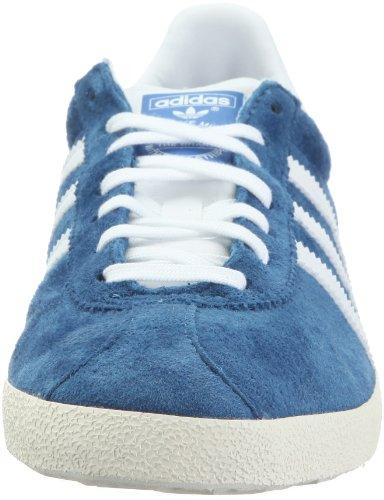 adidas Originals Gazelle Og, Baskets mode homme Bleu - blu (Bleu royal, blanc, ivoire et or)