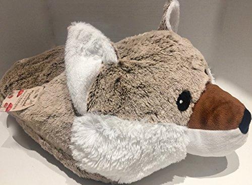 Comfi Feet Luxe géant Marron Woodland Fox Pantoufle – Luxueux Double Pantoufle – Supersoft Woodland Fox Chausson – Chaussons Animaux Fantaisie Chausson – Grande Chauffe-Pieds