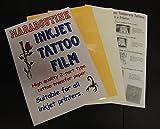 Madaboutink carta doppia per tatuaggi trasferibili per stampante a getto di inchiostro professionale, 3 fogli formato A4