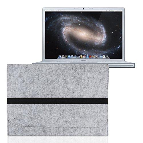 """kwmobile Laptoptasche Filz Sleeve für Apple MacBook Pro 15"""" / MacBook Pro Retina 15"""" - Notebook Tasche Schutzhülle Laptop Case Hülle in Grau mit Innentaschen"""