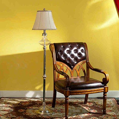 XP Home Stehleuchte, bodenstehende Lesung, kreative einfache europäische Stilüberzug Chrome Wohnzimmer Schlafzimmer Studie Dekoration Tischlampe Stehleuchte Augenschutz vertikale Tischlampe -