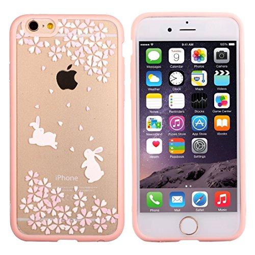 Wkae Case Cover Für iPhone 6 Plus &6s Plus-Kirschblüten-Blumen-Muster Transparente Kunststoff-Schutzhülle ( SKU : IP6P0968C ) IP6P0968B