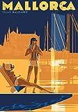 Generic Mallorca Vintage Reisen Fotodruck Poster Stadt