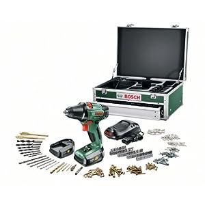 Bosch PSR 14,4 LI-2 HomeSeries Akku-Bohrschrauber + 241 tlg. Zubehör-Set + Toolbox + 2 Akkus und 1-Std.-Ladegerät (14,4…