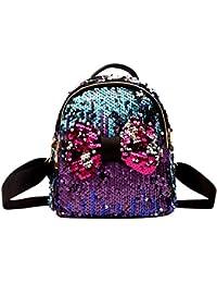 deb6ee979f7ac Ansenesna Rucksäcke Damen Klein Pailletten Glitzer Elegant Taschen Mädchen  Freizeit Backpacks Für Outdoor Reise