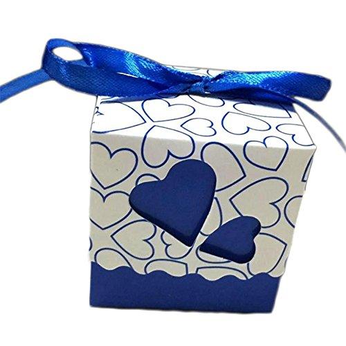 (100x wicemoon Candy Chocolate Box Candy Pearl Papier Geschenke Box Halter Aufbewahrungsbox Fall für Hochzeit Ehe Geburtstag Dusche Party Dekore 5 x 5 x 5CM dunkelblau)