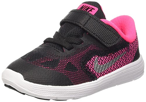 Nike Revolution 3 (Tdv), Scarpe Prima Infanzia (1-10 Mesi) Bambina, Nero (Black/Mtllc Slvr-Hypr Pnk-Wht), 21 EU