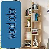 QIANGDA Bücherregal Baumform Bücherschrank Blumenregal 8 Schichten Lagerregal Gebrauchsgut, 48 X 20 X 132 cm, 8 Farben Wahlweise (Farbe : Holzfarbe)
